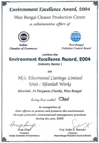 Certificate by West Bengal Pollution Control Board